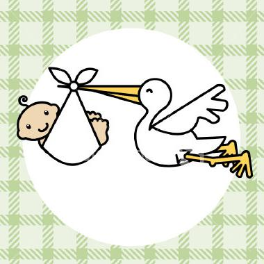 Free Stork Baby Clip Art | Transparent Sundays